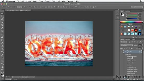 Knowing how and when to scale layer effects: Photoshop CS6 Essential Training