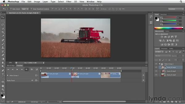 Working with video clips: Photoshop CS6 Essential Training