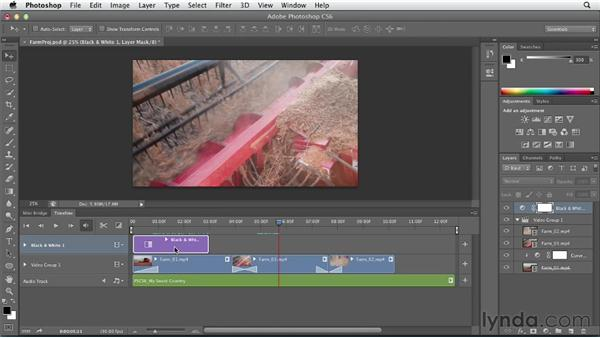 Adding special effects to video: Photoshop CS6 Essential Training