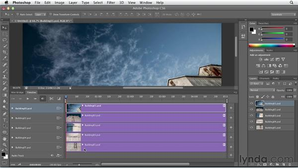 Adding pans and zooms to still images: Photoshop CS6 Essential Training