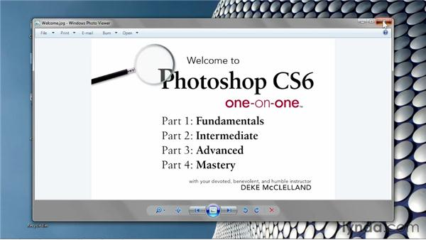 Opening from the Windows desktop: Photoshop CS6 One-on-One: Fundamentals