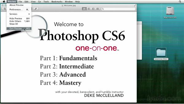 Opening from the Macintosh Finder: Photoshop CS6 One-on-One: Fundamentals