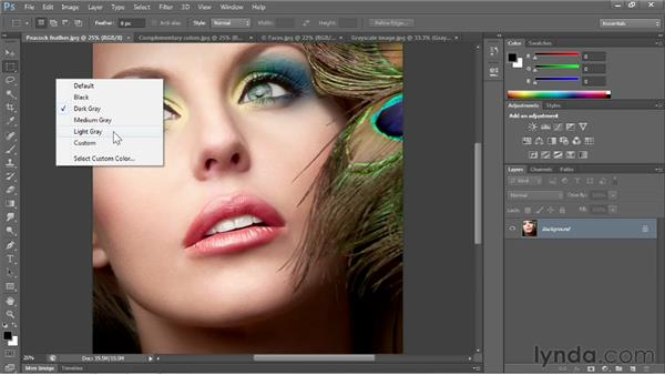 The dark vs. the light interface: Photoshop CS6 One-on-One: Fundamentals
