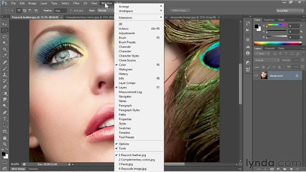 Panels and workspaces: Photoshop CS6 One-on-One: Fundamentals