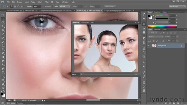 Using the Navigator panel: Photoshop CS6 One-on-One: Fundamentals
