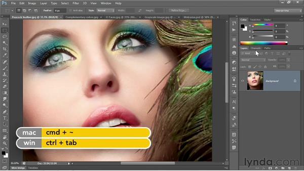 Adjusting a few screen prefs: Photoshop CS6 One-on-One: Fundamentals