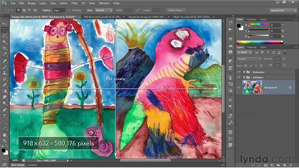 Image size and resolution: Photoshop CS6 One-on-One: Fundamentals