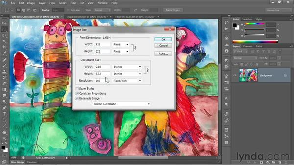 The Image Size command: Photoshop CS6 One-on-One: Fundamentals