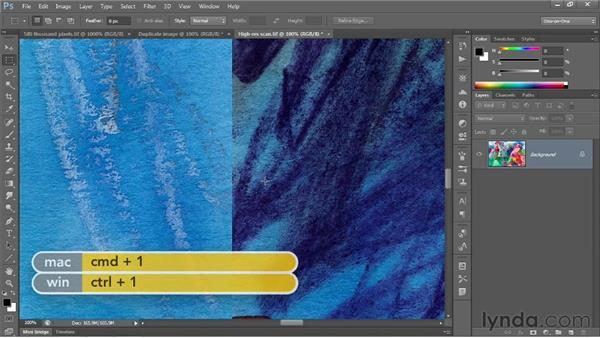 Upsampling vs. real pixels: Photoshop CS6 One-on-One: Fundamentals