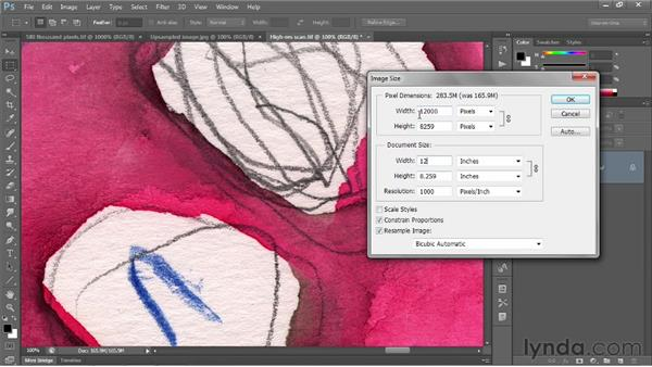 Changing the print size: Photoshop CS6 One-on-One: Fundamentals