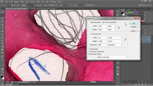 Downsampling for print: Photoshop CS6 One-on-One: Fundamentals
