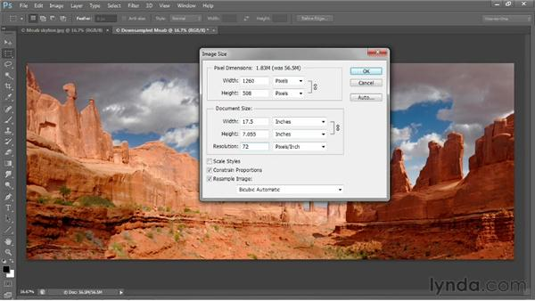 Downsampling for email: Photoshop CS6 One-on-One: Fundamentals