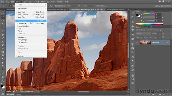 Upsampling advice: Photoshop CS6 One-on-One: Fundamentals