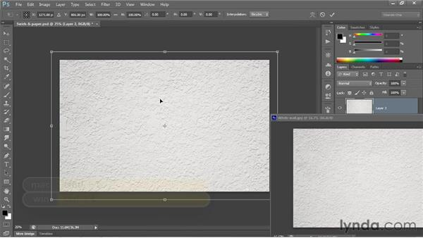 Dragging and dropping layers: Photoshop CS6 One-on-One: Fundamentals