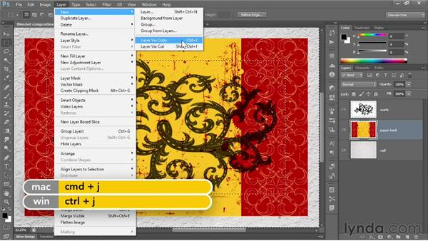 Duplicating a selected portion of a layer: Photoshop CS6 One-on-One: Fundamentals