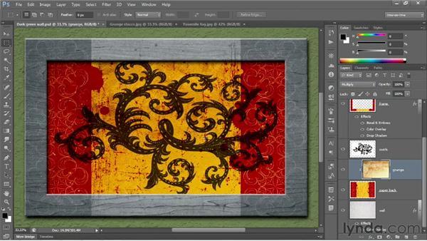 Finishing off your artwork: Photoshop CS6 One-on-One: Fundamentals
