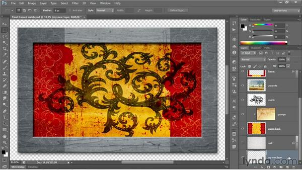 Creating a new layer and background: Photoshop CS6 One-on-One: Fundamentals