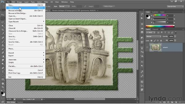Saving an interactive image to PNG: Photoshop CS6 One-on-One: Fundamentals
