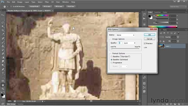Saving a flat photo to JPEG: Photoshop CS6 One-on-One: Fundamentals