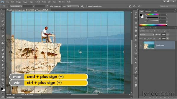 The new and improved Crop tool: Photoshop CS6 One-on-One: Fundamentals