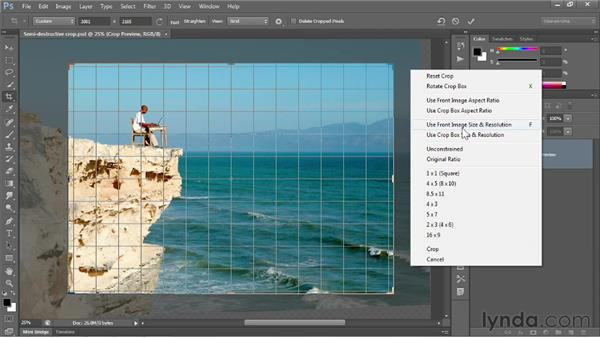 Editing your last crop: Photoshop CS6 One-on-One: Fundamentals