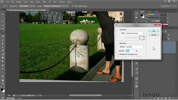 Filling in missing details: Photoshop CS6 One-on-One: Fundamentals