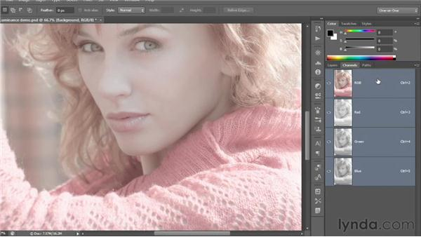 How luminance works: Photoshop CS6 One-on-One: Fundamentals