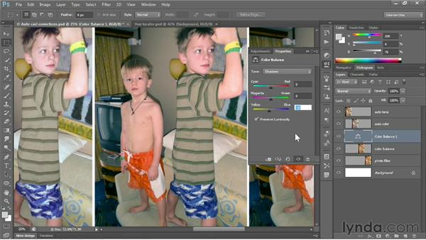 Changing the color balance: Photoshop CS6 One-on-One: Fundamentals