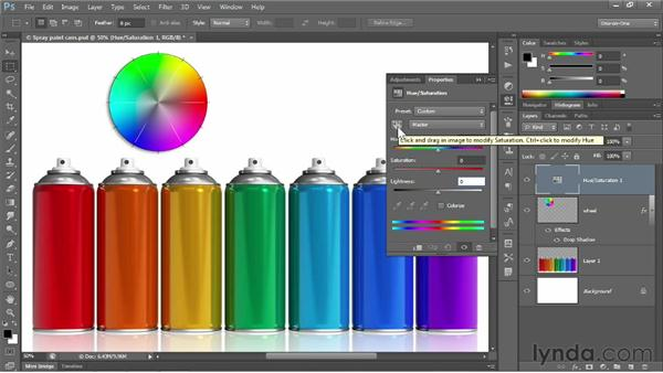 The Hue/Saturation command: Photoshop CS6 One-on-One: Fundamentals
