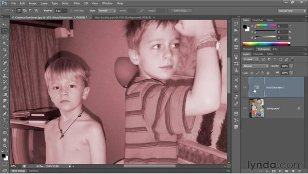 Making a quick-and-dirty sepia tone: Photoshop CS6 One-on-One: Fundamentals
