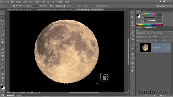 The geometric Marquee tools: Photoshop CS6 One-on-One: Fundamentals