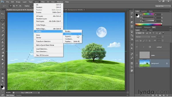 The freeform Lasso tools: Photoshop CS6 One-on-One: Fundamentals