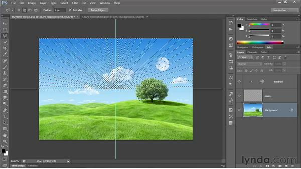Polygonal Lasso tool and Quick Mask: Photoshop CS6 One-on-One: Fundamentals