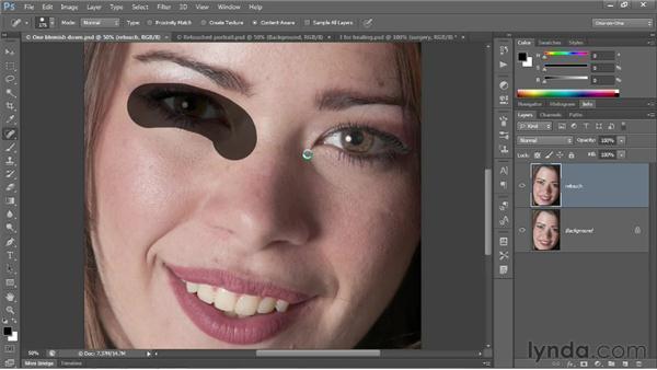 Using the Spot Healing Brush: Photoshop CS6 One-on-One: Fundamentals