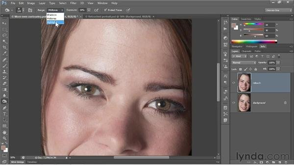 Adjusting color with the Brush tool: Photoshop CS6 One-on-One: Fundamentals