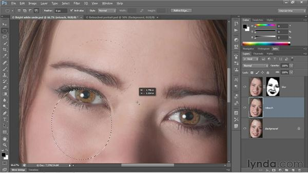 Intensifying eyes: Photoshop CS6 One-on-One: Fundamentals
