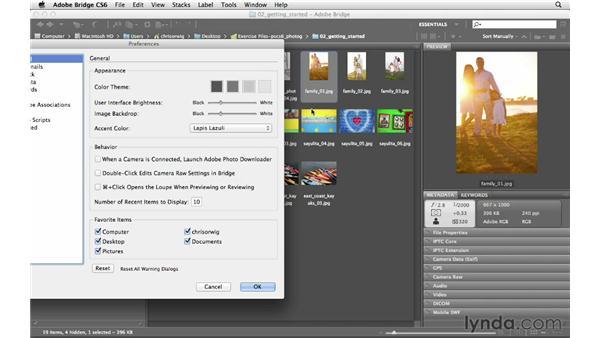 Customizing the Bridge workspace: Photoshop CS6 for Photographers