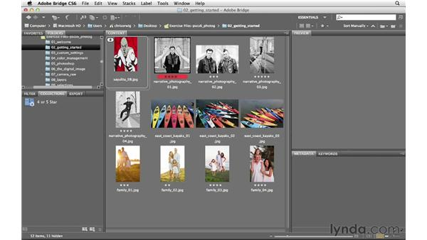 Grouping pictures together with collections: Photoshop CS6 for Photographers