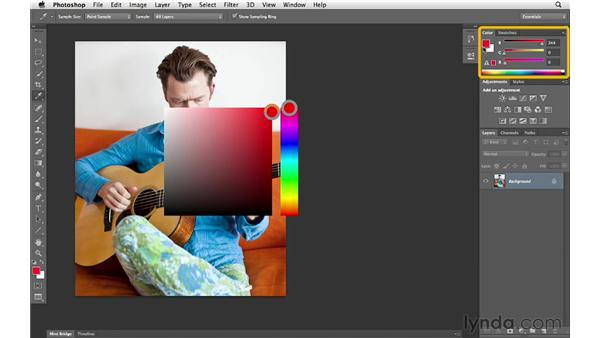 Choosing preferences for the HUD color picker: Photoshop CS6 for Photographers