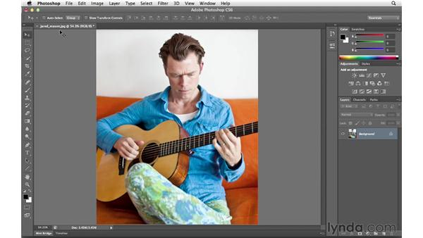 Opening up documents in tabs: Photoshop CS6 for Photographers