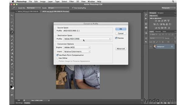Opening and saving files with embedded profiles: Photoshop CS6 for Photographers