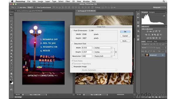 Resizing images effectively: Photoshop CS6 for Photographers