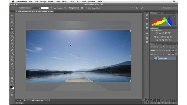 Resizing and straightening with the Crop tool: Photoshop CS6 for Photographers