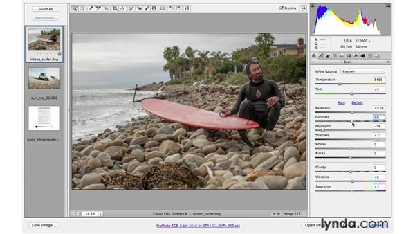 Improving your images with the basic controls: Photoshop CS6 for Photographers
