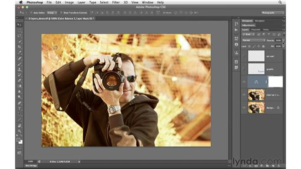 Working with layer opacity: Photoshop CS6 for Photographers