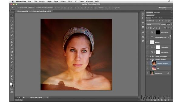 Organizing layers: Photoshop CS6 for Photographers