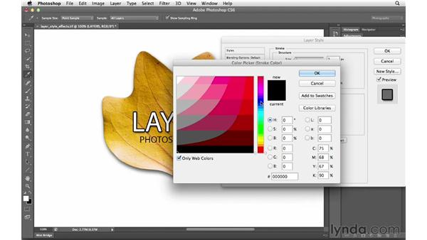 Adding layer style effects: Photoshop CS6 for Photographers
