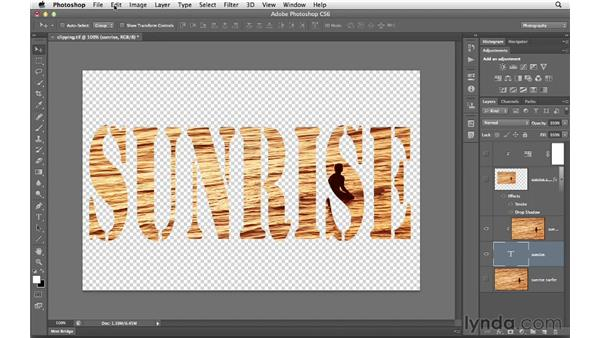 Creating a clipping mask: Photoshop CS6 for Photographers