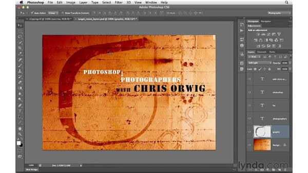 Targeting and moving layers: Photoshop CS6 for Photographers