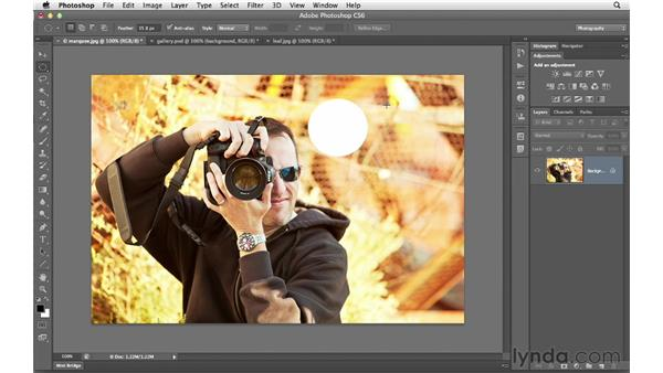 Making selections with the marquee tools: Photoshop CS6 for Photographers